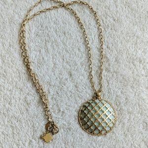 Lia Sophia Kiam Family Aqua Pendent Necklace